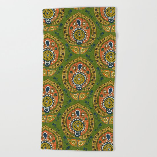 safa green Beach Towel