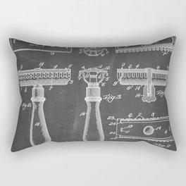 Razor Patent - Barber Art - Black Chalkboard Rectangular Pillow