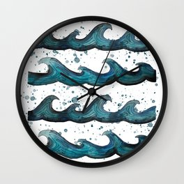 waves all day Wall Clock