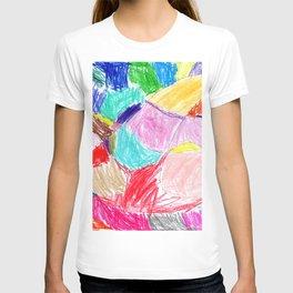 patchwork rainbow T-shirt