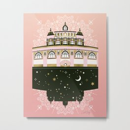 Budapest Bath House – Peach & Gold Palette Metal Print