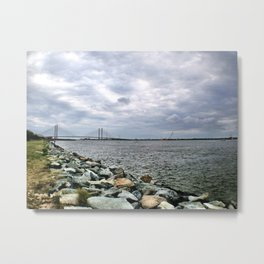 Inlet at Bethany Beach Metal Print