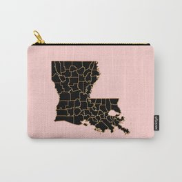 Louisiana map Carry-All Pouch
