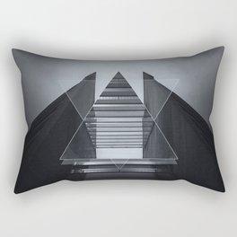 The Hotel (experimental futuristic architecture photo art in modern black & white) Rectangular Pillow