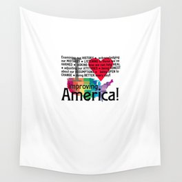 Improving America  Wall Tapestry