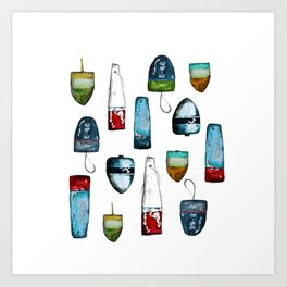 Bouys from Maine  Art Print