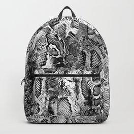 Black & White Snakeskin  Backpack