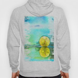 Tennis Ball On Court Reflection. For Tennis Lovers Hoody