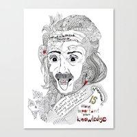 einstein Canvas Prints featuring Einstein by Ina Spasova puzzle