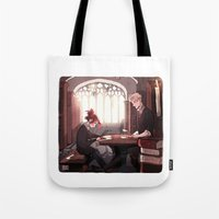 library Tote Bags featuring Library by Galaxyspeaking