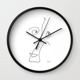 Demeter Moji d8 3-2 w Wall Clock