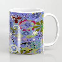 asia Mugs featuring Asia Blue by gretzky