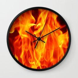 Fire in fire  (A7 B0145) Wall Clock