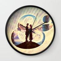 princess bride Wall Clocks featuring Princess Bride by Emmy Winstead