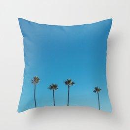 Summer Palms Throw Pillow