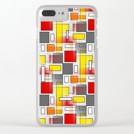 Abstract Layers Clear iPhone Case