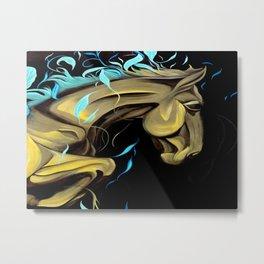 Golden horse paintwork Metal Print
