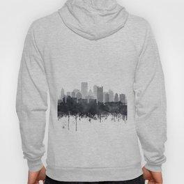 Pittsburgh Skyline Black & White Watercolor by Zouzounio Art Hoody