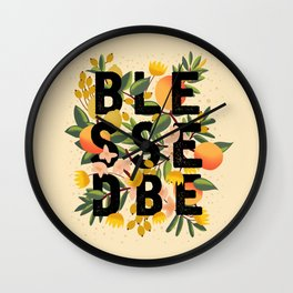 BLESSED BE LIGHT Wall Clock