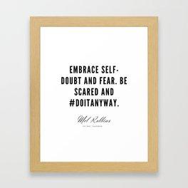 41   | Mel Robbins Quotes | 190802 Framed Art Print