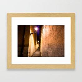 Street Light Alley Framed Art Print