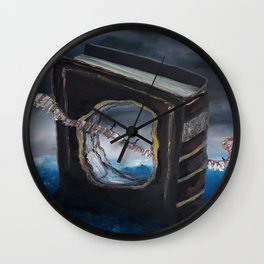 Book of Life, original oil painting by Luna Smith, LuArt Gallery Wall Clock