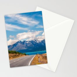 Amazing alpine scenery on a road trip in New Zealand Stationery Cards