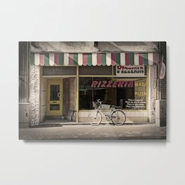 Image of facade of old pizzeria Metal Print