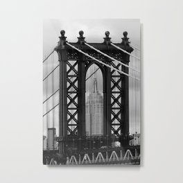 new york city ... manhattan bridge trilogy II Metal Print