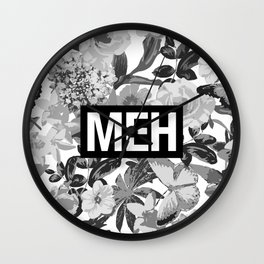 MEH B&W Wall Clock
