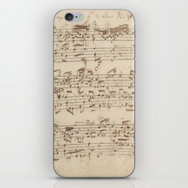 Old Music Notes - Bach Music Sheet iPhone Skin
