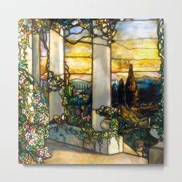 "Louis Comfort Tiffany ""Howell Hinds House Window"" Metal Print"