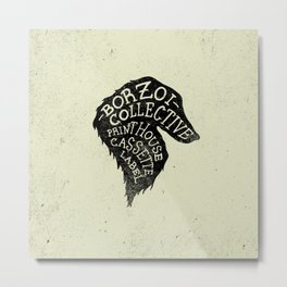 Borzoi Collective Cassette Label Dog Head Logo Metal Print