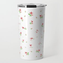 """Colorful and flowery tee design with text """"Deny The Lies"""" Stay brave and concealed with creativeness Travel Mug"""