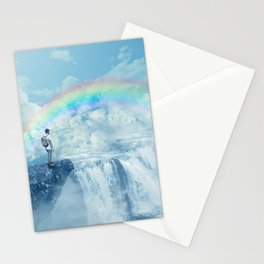 waterfall in the sky Stationery Cards