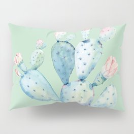 Rose Desert Cactus Light Mint Green by Nature Magick Pillow Sham