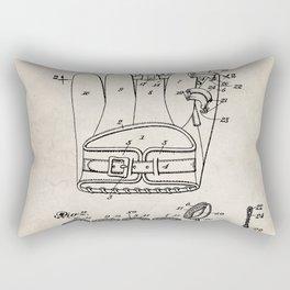 Baseball Glove Patent - Baseball Art - Antique Rectangular Pillow
