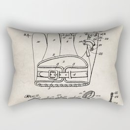 Baseball Glove Patent - Baseball Art - Antique Rectangular Pillow