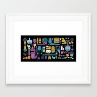 monsters Framed Art Prints featuring MONSTERS by Piktorama