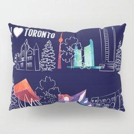I heart Toronto (navy) Pillow Sham