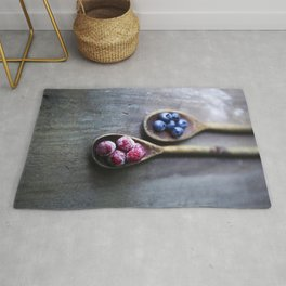 Raspberries and Blueberries Rug
