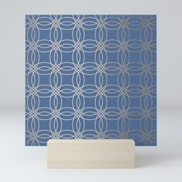 Simply Vintage Link in White Gold Sands and Aegean Blue Mini Art Print