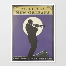 Vintage poster - City of New Orleans Canvas Print