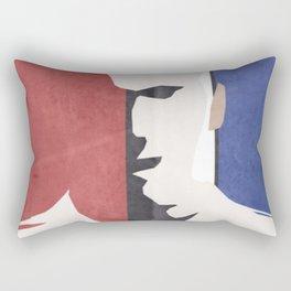Zinedine Zidane, minimal portrait, Zizou, illustration, french football player, soccer, ballon d'or Rectangular Pillow