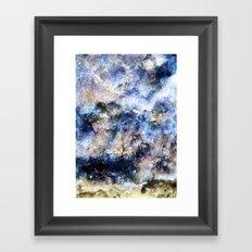 Blue Textures Framed Art Print
