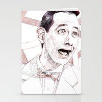 pee wee Stationery Cards featuring Pee Wee Herman by Aaron Bir by Aaron Bir