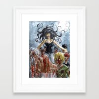 zombies Framed Art Prints featuring ZOMBIES by Maryne.