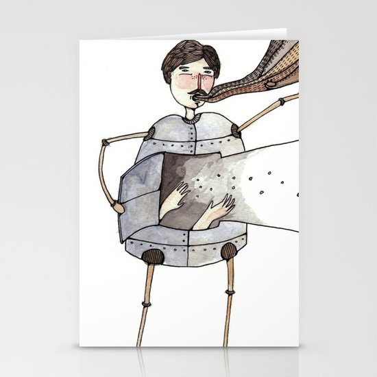 Robot Magic Stationery Cards