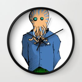 Squidman Doesn't Pick Up Poo Wall Clock