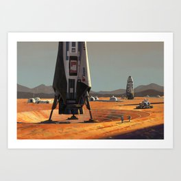 ITS Landers at Alpha Site Art Print